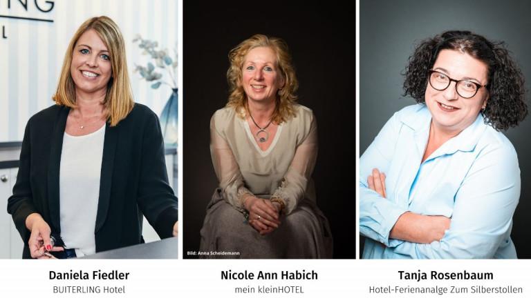Drei Unternehmerinnen in der Hotellerie